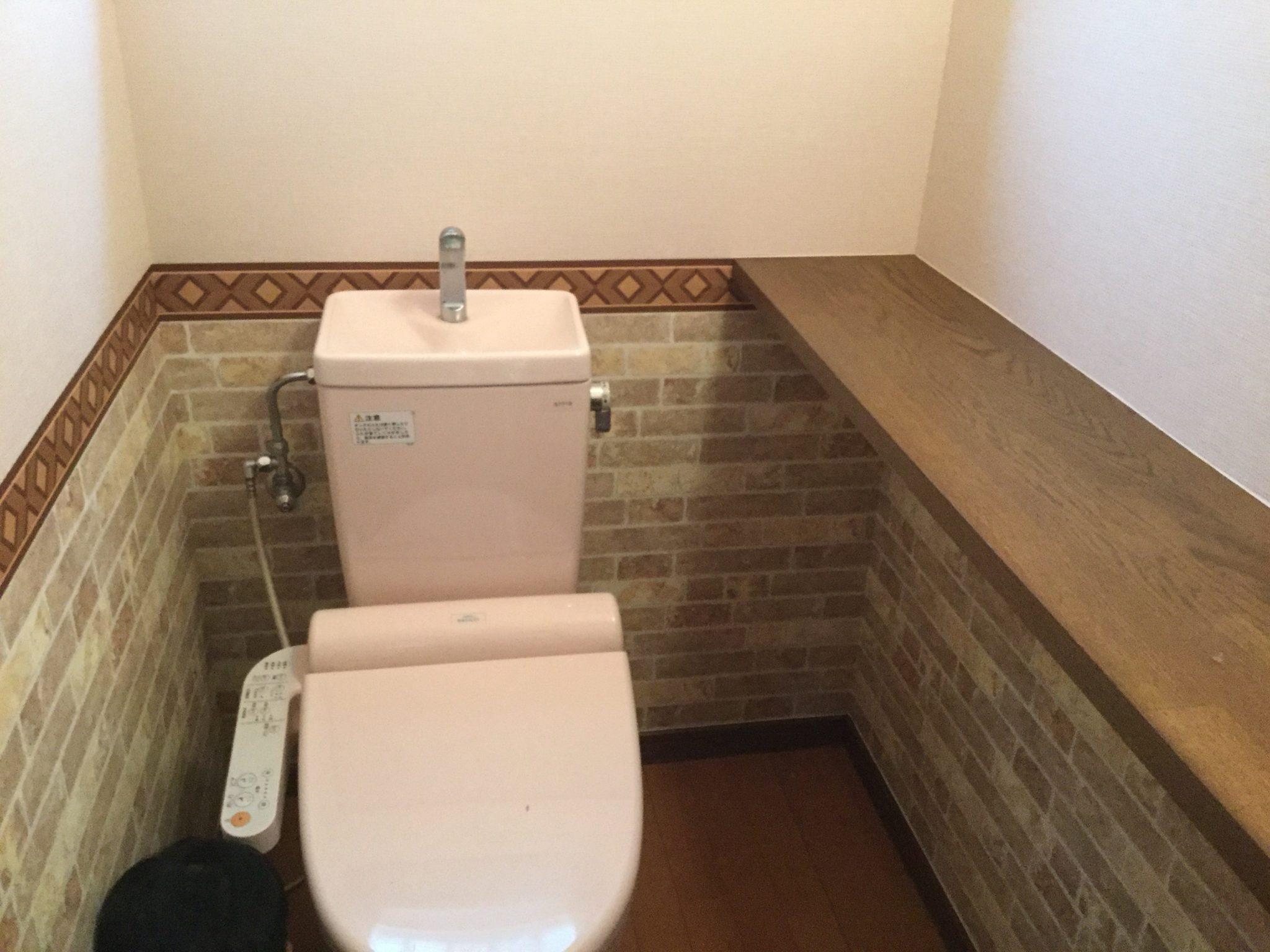 トイレ内装(壁紙)の施工後きれいになりました